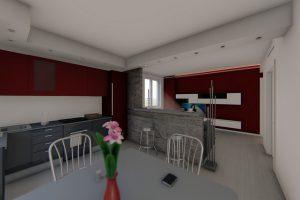 cucina open space milano arredo