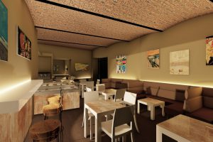 design di interni per sala caffè