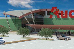 Auchan parcheggio e render esterno