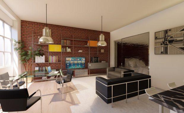 progetto per loft a Milano